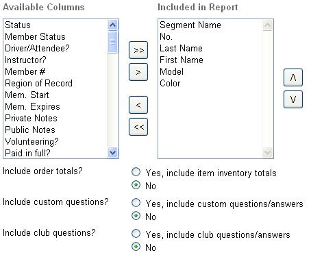 Editing report content
